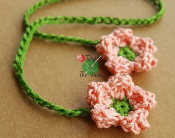Blossom double-ended umbilical cord tie for newborn baby - white, peach, pink or cream - IN STOCK