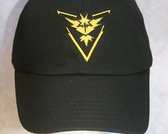 Pokemon Go Team Instinct Yellow (Polo Style Ball Caps in Various Colors)