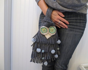 Happy Owl Fringe Wristlet SALE SALE SALE