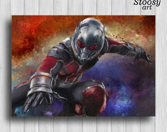 marvel poster ant man print super hero decor marvel civil war poster ant man decor