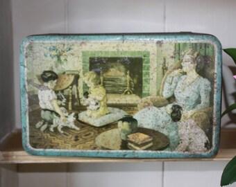 Collectible Tin /  French / French Tin / Vintage Tin / Vintage / French Tin Box / Vintage French / TIn / French Vintage
