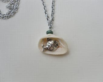 Surprise Shell - Puffer Fish Hidden Charm Necklace