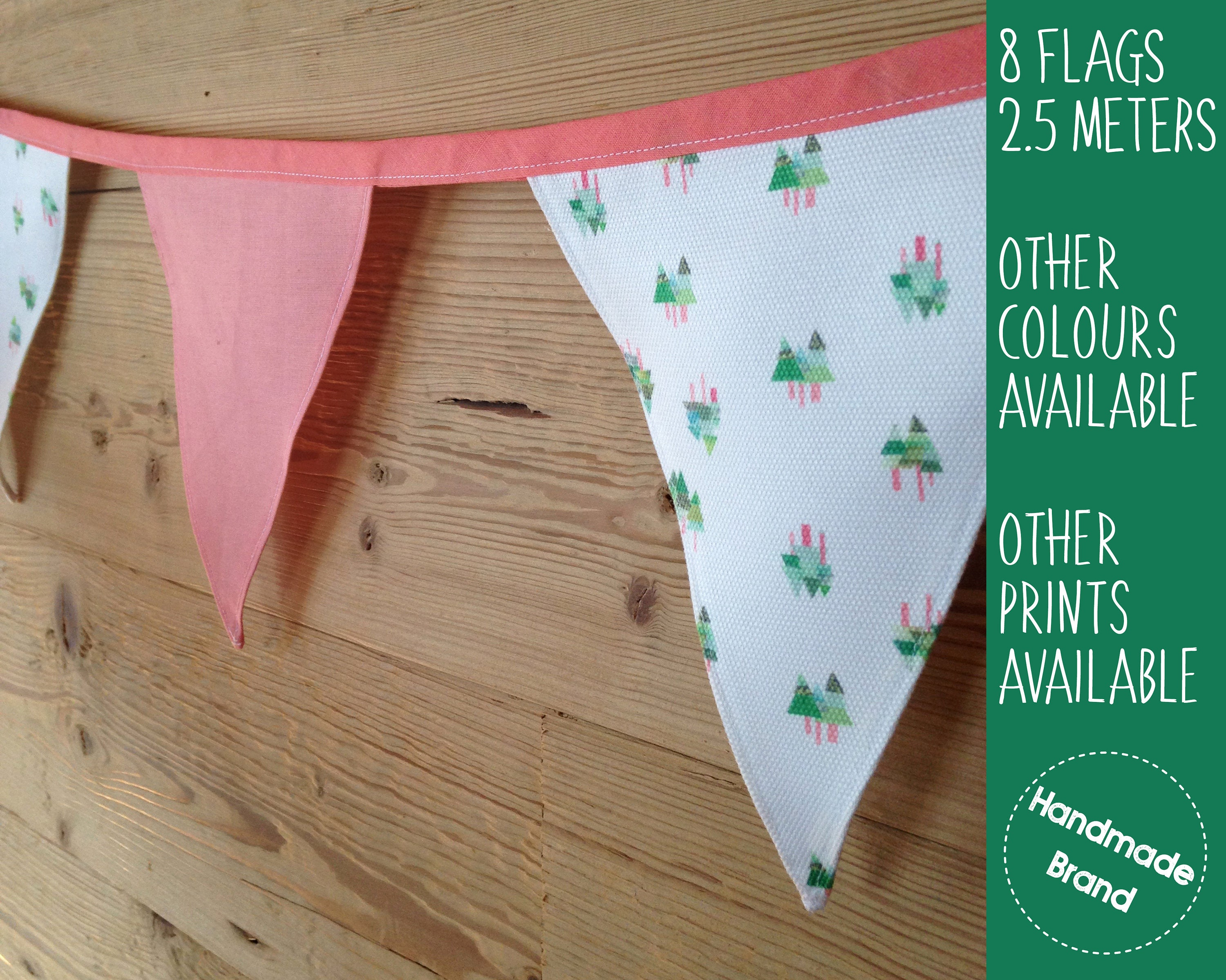 Tree Print Bunting Forest Garland Woodland Bunting Fabric