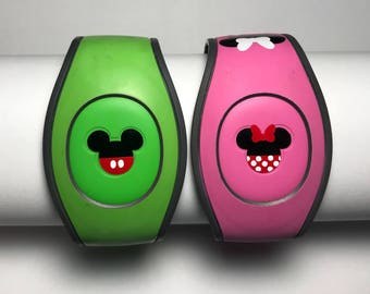 Mickey or Minnie - Mickey Icon - Disney Inspired Magic Band Decal - Mickey & Minnie - Walt Disney World - fits 1.0 and 2.0