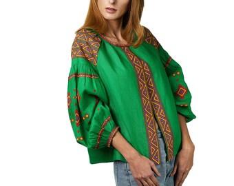ZALXNDRA Tradition ZOE Summer Jacket in Emerald Green