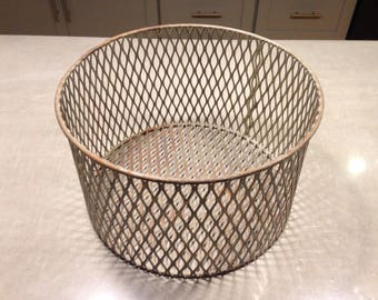 vintage wire basket , chemistry laboratory 1960s