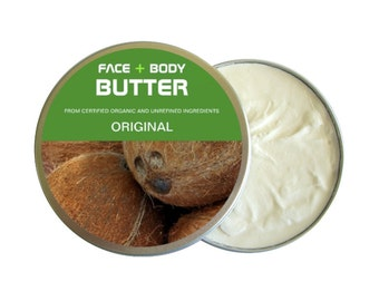 Moisturizing Coconut Oil Body Butter (1 oz) | Eco-friendly, Cruelty-free, Vegan, USDA Certified Organic & Unrefined Ingredients