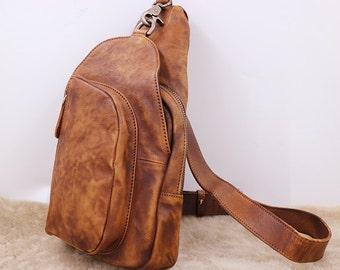 Sling Bag, Backpack, Leather Sling Bag, Accessories ,Single Strap, Leather Bag, Urban Bag