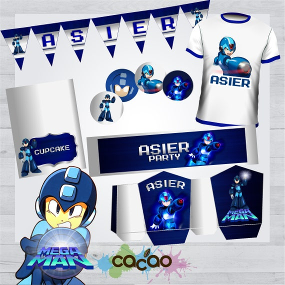 megaman party kit megaman invite megaman birthday party