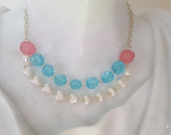 Pearl Hearts Necklace