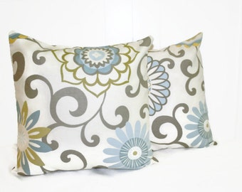 Decorative Medallion 16x16 Light Blue with Gold, Cream and Gray accents