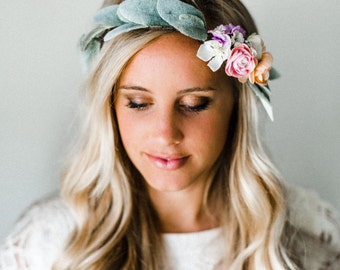 Pretty in Pastel Flower Crown