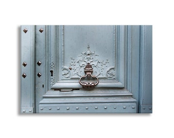 Paris Door Photo on Canvas, Elegant Door, Fine Art Photograph Gallery Wrapped Canvas, Large Wall Art, French Home Decor