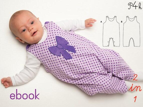 Schnittmuster Baby Strampler Overall Body Babyanzug nähen