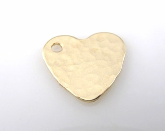 Heart Charm, Gold Filled, Jewelry Making