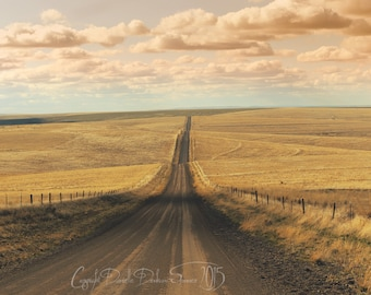 Landscape Photography | Eastern Oregon | Long Dirt Backroad | Travel Photo | Country | Rural | Rustic