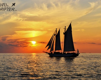 Sunset Sailing Key West, Florida-Travel Photography-Wall Art-Fine Art Print-Home Decor