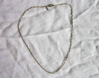 Vintage Designer Monet Twist Flat Chain Necklace