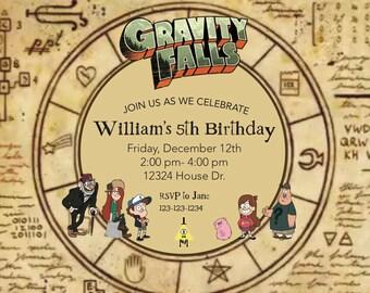 DIGITAL FILE: Gravity Falls Invitation