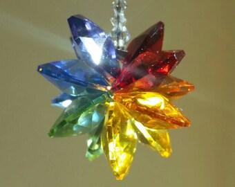 crystal suncatcher, meditation crystal,  Chakra crystal, car charm,  rainbow prism,  rainbow car charm,  crystal car charm, mirror charm