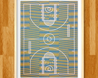 Moiré is Life basketball art print