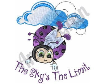 The Sky Is The Limit - Machine Embroidery Design, Beetle