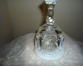 Large Opalescent Milk Glass Bell