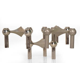 Set of Four Candleholders by Nagel and Stoffi
