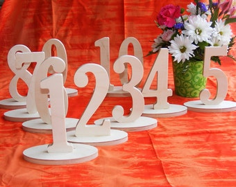 1-25 Numbers Set - Unfinished wooden table numbers Wedding table numbers Table number Kit
