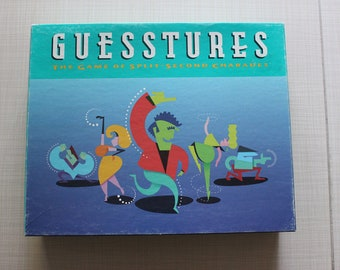 Guesstures Game of Split Second Charades Partially Unused Milton Bradley 1990