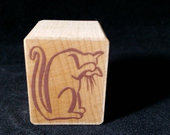 Cat Rubber stamp View all Photos