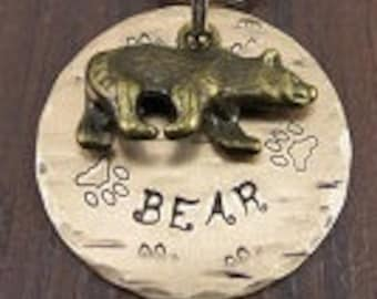 Dog Tags, Pet ID Tags, Dog Name Tags, Pet Tags, Pet Accessories, Pet Name Tags, Metal Pet Tags, Bear Tag for Dogs, Dog Id Tags, Dog Gifts