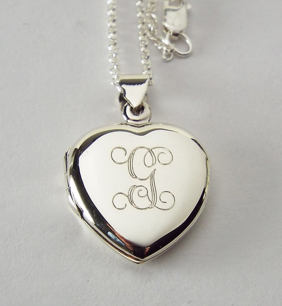 lockets necklace locket plain large silver