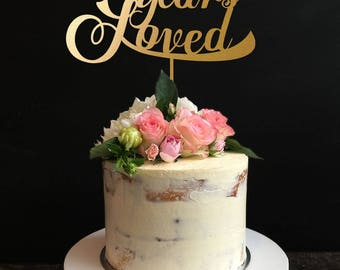 70 Years Loved, Classy 70th Birthday Cake Topper,70 Years Loved, 70th Anniversary Cake Topper,Love Cake Topper
