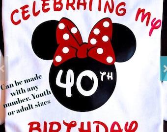 Disney Birthday Shirt Shirts Minnie 40th
