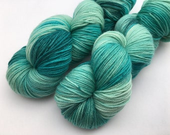 Hand dyed yarn Dandy sock -'Seaspray'