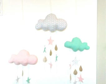 Mobile wall tri cloud /on customize order