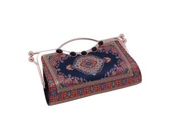 Vintage Style Clutch Handbag