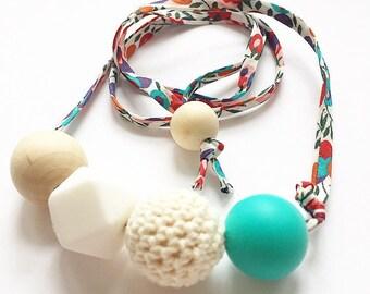 Boho 1 liberty sensory teething nursing necklace