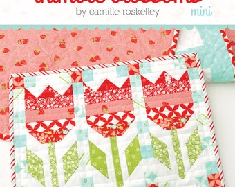 FREE SHIPPING! Mini Vintage Tulips Quilt Pattern by Camille Roskelley Thimble Blossoms