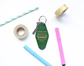 Central Perk Green Key Tag - Friends Keychain