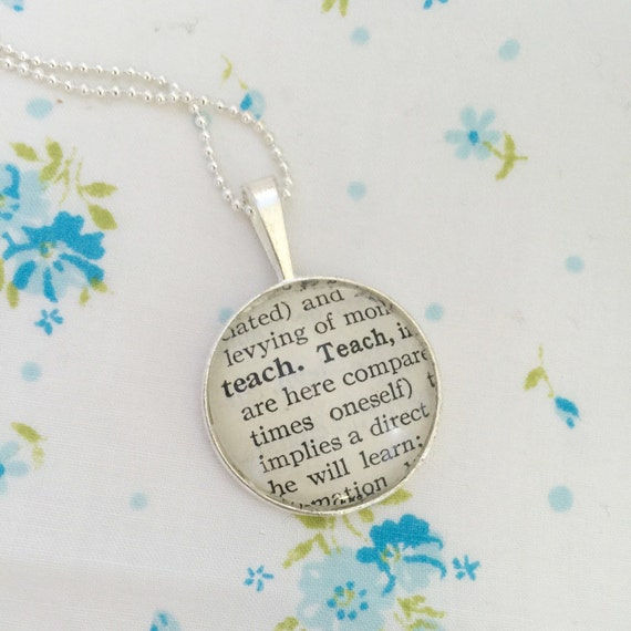 Teach tiny humans definition necklace vintage dictionary teach tiny humans definition necklace vintage dictionary pendant teacher gift dance teacher keepsake jewelry college professor aloadofball Image collections