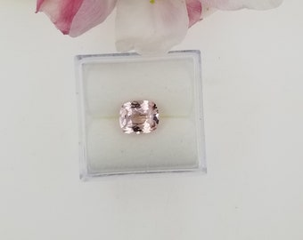 Pink Peach Sapphire 1.70cts Cushion for Custom Jewelry or Wedding Ring