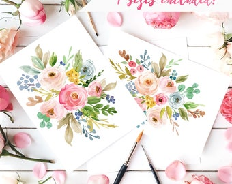 Floral Watercolor Wall Art Print Floral Flower Nursery Art Watercolor Prints Girls Nursery Art Printable Art Flower Print For Girls Room Art