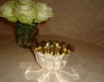 Vintage Silver Plate Scalloped  Bowl