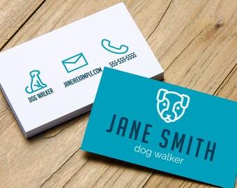 Premade Business Card, Business Card, Business Cards, Business Card Design, Modern Business Card, Custom, Custom Design, Dog Walker Card