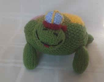 Knitted Turtle Handmade - Stuffed Animal -  Stuffed Turtle - Kids Toy - Stuffed Toy - Soft Toy - Colorful Turtle