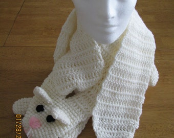 Cat Cuddler scarf - crocheted