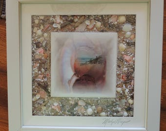 Mixed Media Photography:   Looking through the Sea Shell