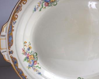 Grindley Made in England Art Deco Handled Serving Platter circa 1930+